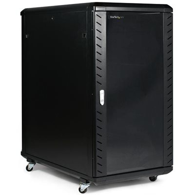 Store your servers, network and telecommunications equipment securely in this 22U solid steel rack