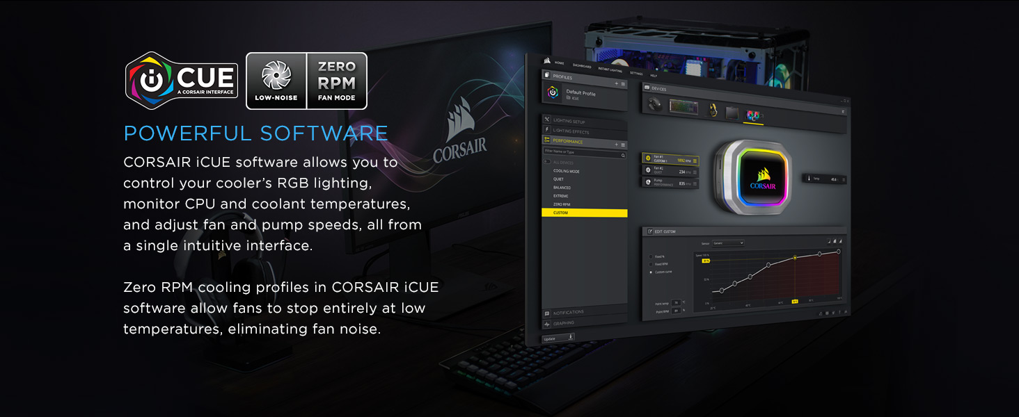 Corsair Hydro Series H115i Rgb Platinum 280mm 2 X Ml Pro 140mm Ww Stock Trailer Wiring Harness For Lights Pwm Fans Advanced Lighting Fan Control W Software Liquid Cpu Cooler