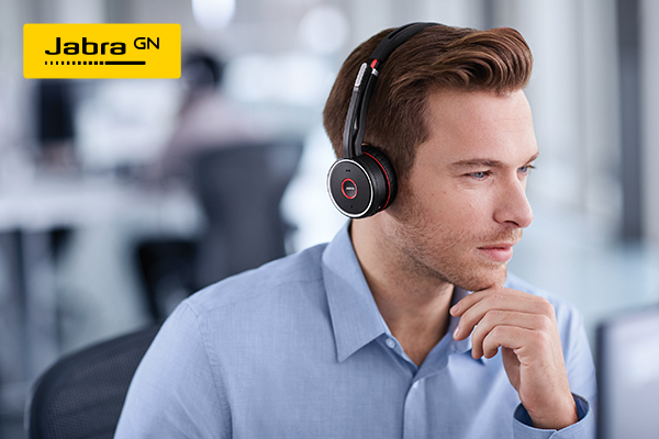 Jabra Evolve 75 Uc Stereo Headset On Ear Bluetooth Wireless Active Noise Canceling Usb Dell Usa