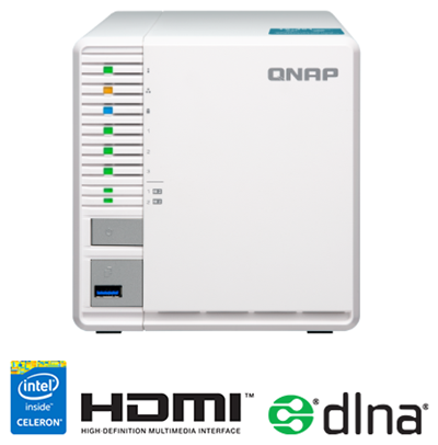 QNAP TS-351-4G 3 Bay 4GB Diskless Desktop NAS