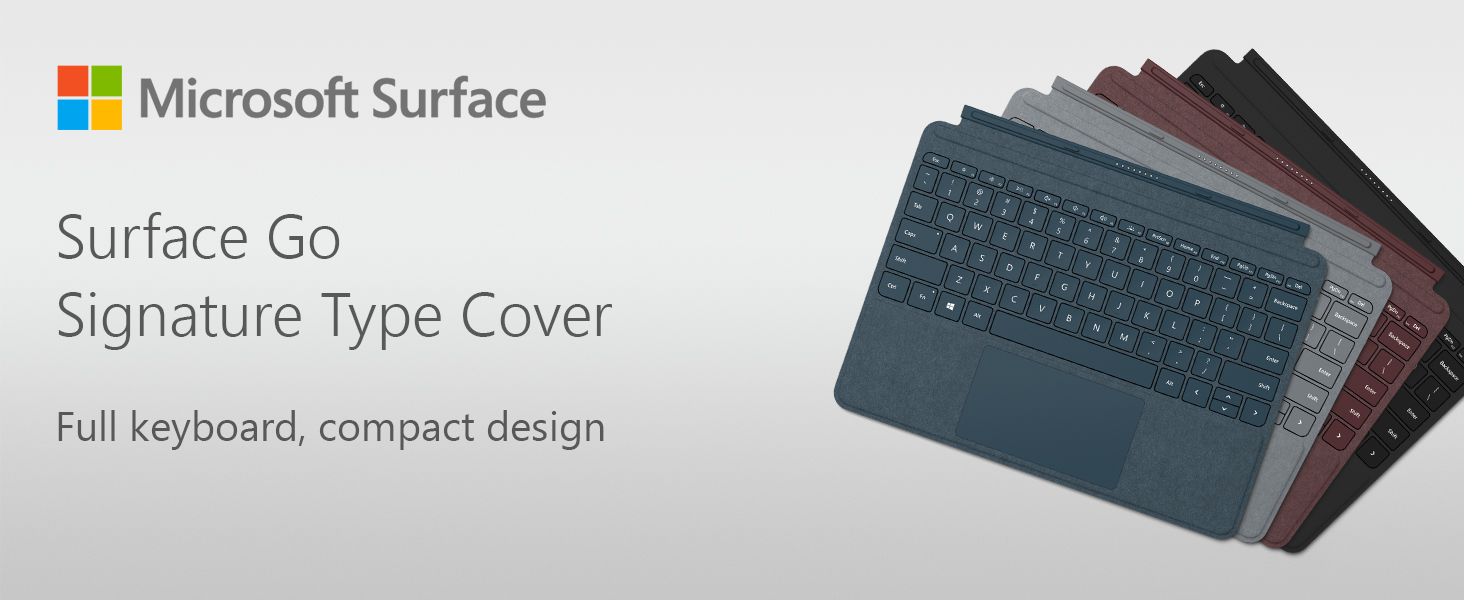 Microsoft Surface Go Signature Type Cover keyboard - with trackpad,  accelerometer - British - black - Pricing Type: Commercial