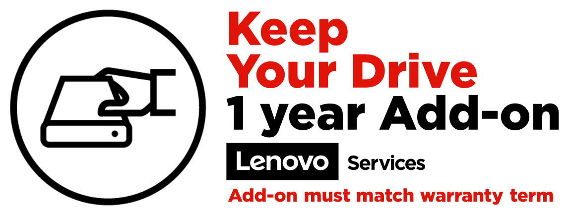 Lenovo Keep Your Drive Add On extended service agreement - 1 year