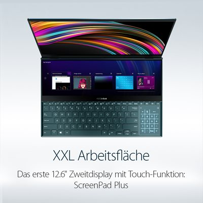 Zwei Displays in einem Premium-Notebook