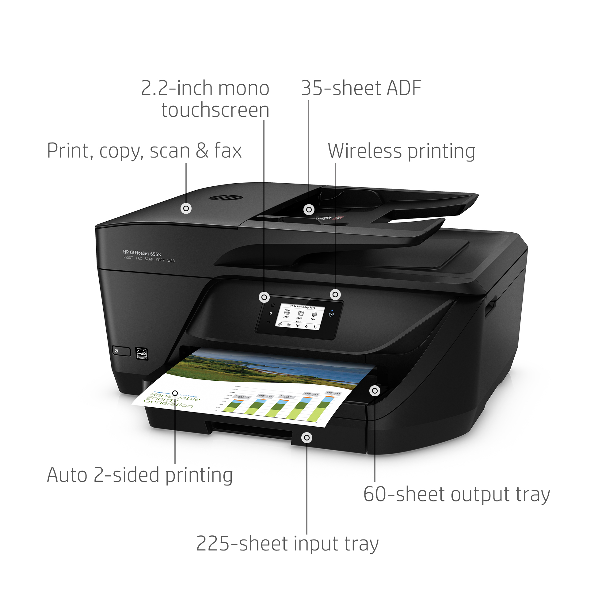 HP Officejet Pro 6958 All-in-One Color Inkjet Printer