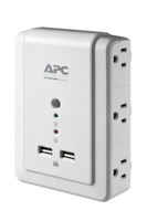 APC P6WU2 SurgeArrest 6 Outlet Wall Mount Surge Protector with 2 USB Charging Ports