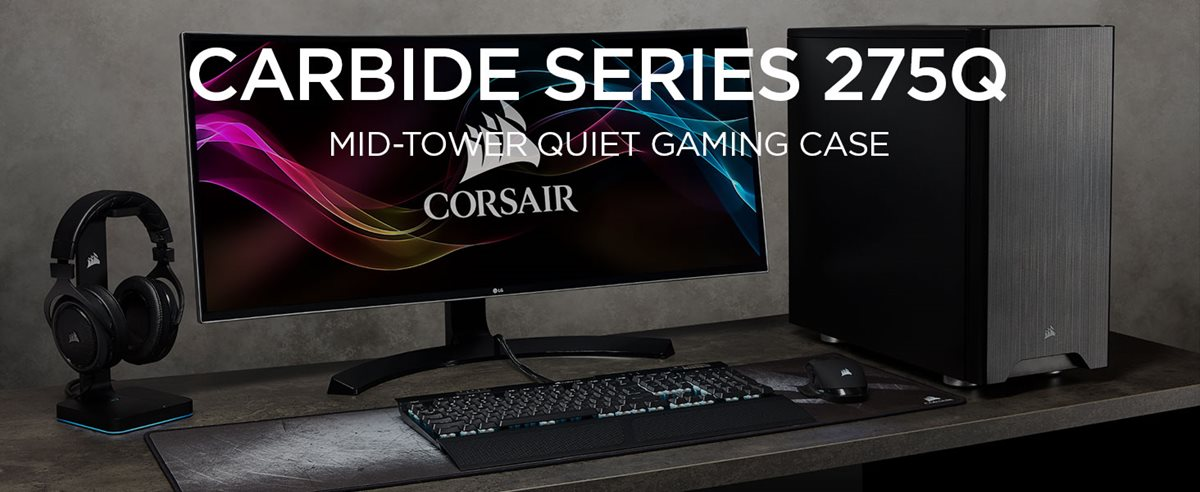 Carbide Series 275Q ATX Mid-Tower Case CORSAIR Black
