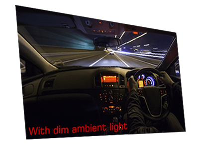 With dim ambient light