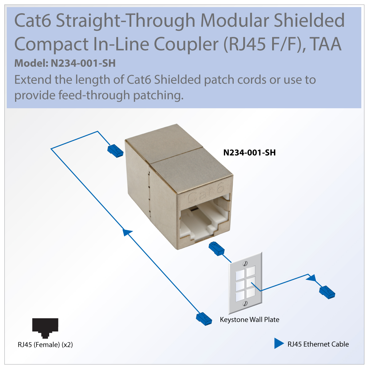 rj45 inline coupler wiring diagram tripp lite cat6 straight through modular shielded compact in line  tripp lite cat6 straight through
