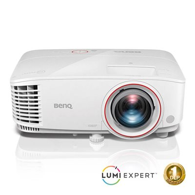 "BenQ TH671ST 1080p 3200 Lumens DLP Home Entertainment Projector, Low Input Lag for Smoother Video Gaming, Ambient Light Sensor, Superior Short Throw 100""@1.5m, 5W Stereo Speaker, Wireless, 3D, HDMI, MHL"
