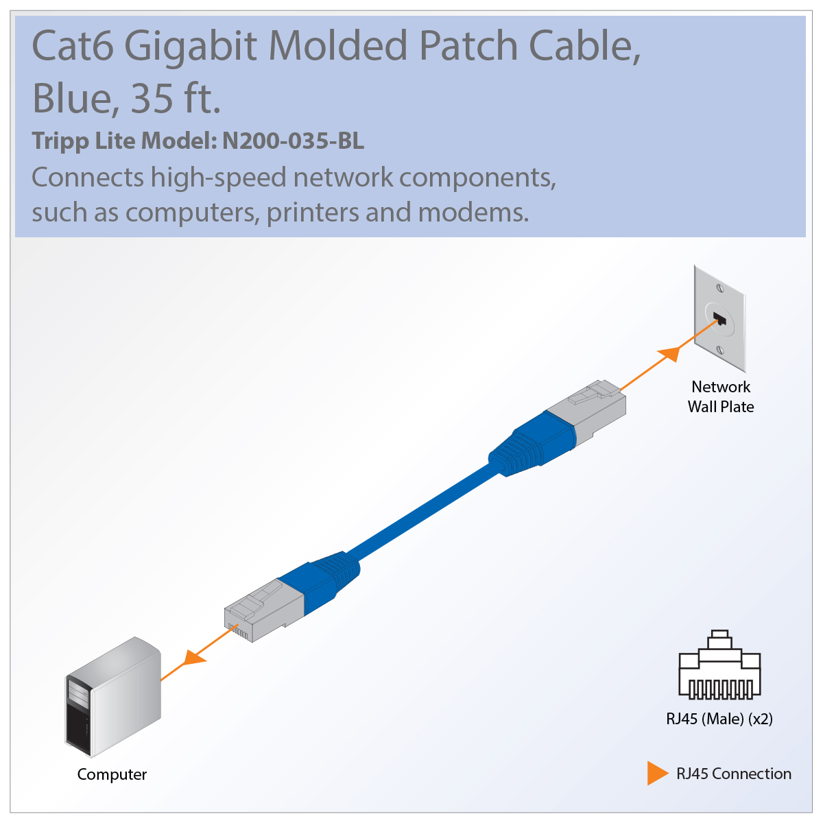 Tripp Lite Premium Cat5 Cat5e Cat6 Gigabit Molded Patch Cable 24 Awg Rj45 Connector Wiring Great For Connecting Components In Bandwidth Heavy Home Office Networks