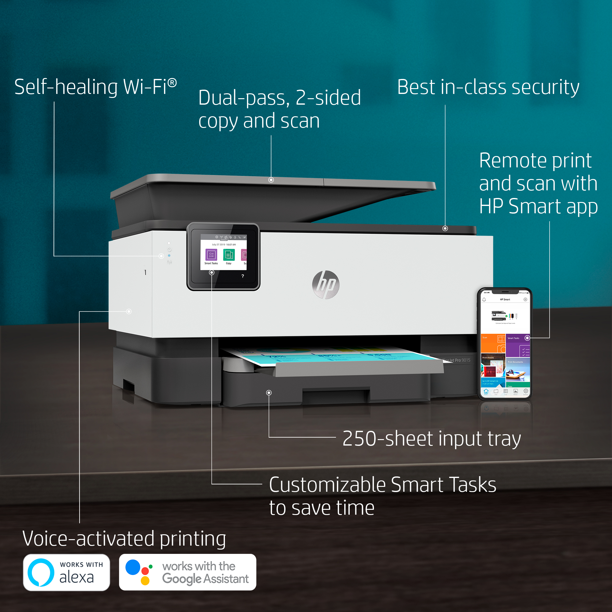 HP OfficeJet Pro 9015 All-in-One Printer - Walmart com