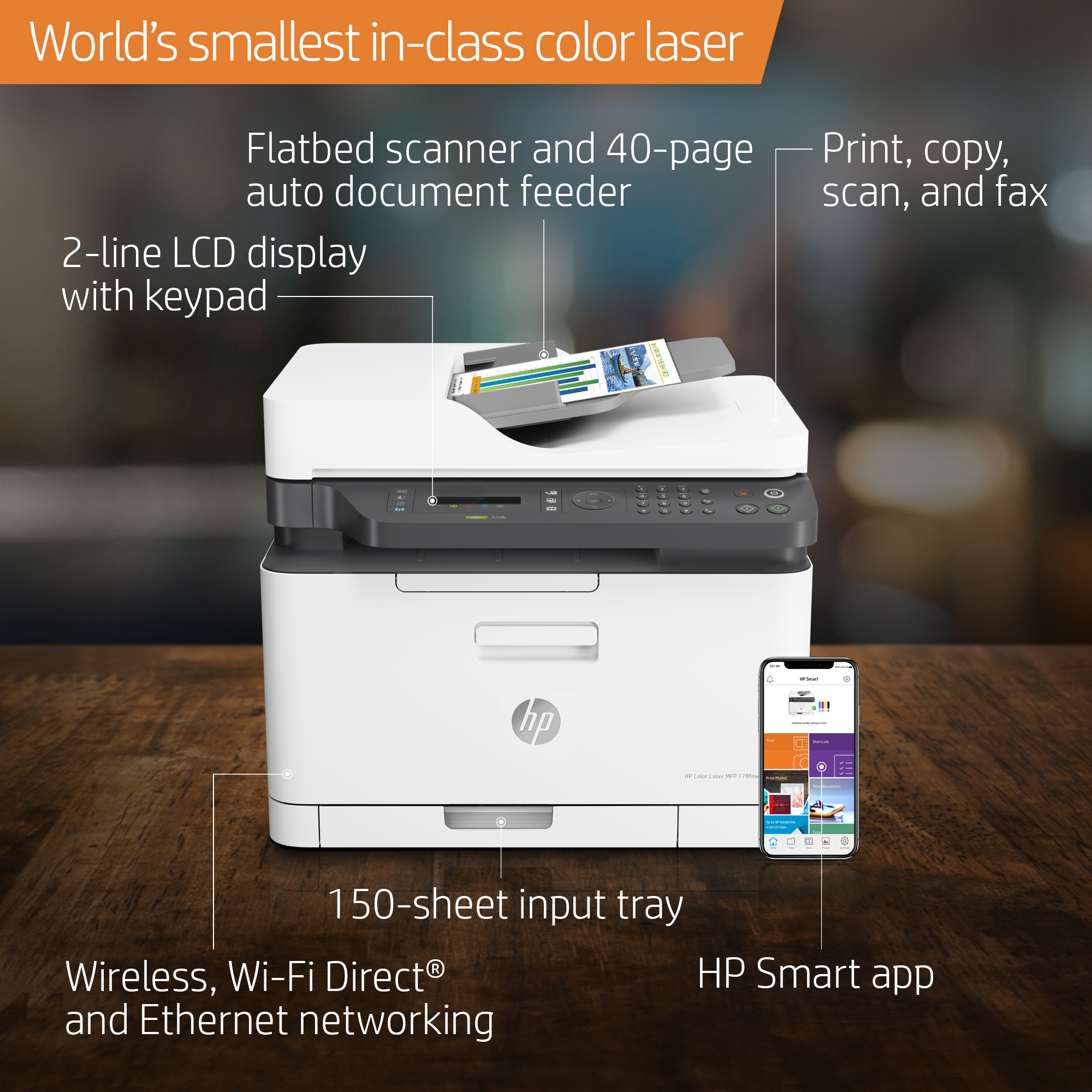 HP Color Laser MFP 179fnw All In One - Office Depot