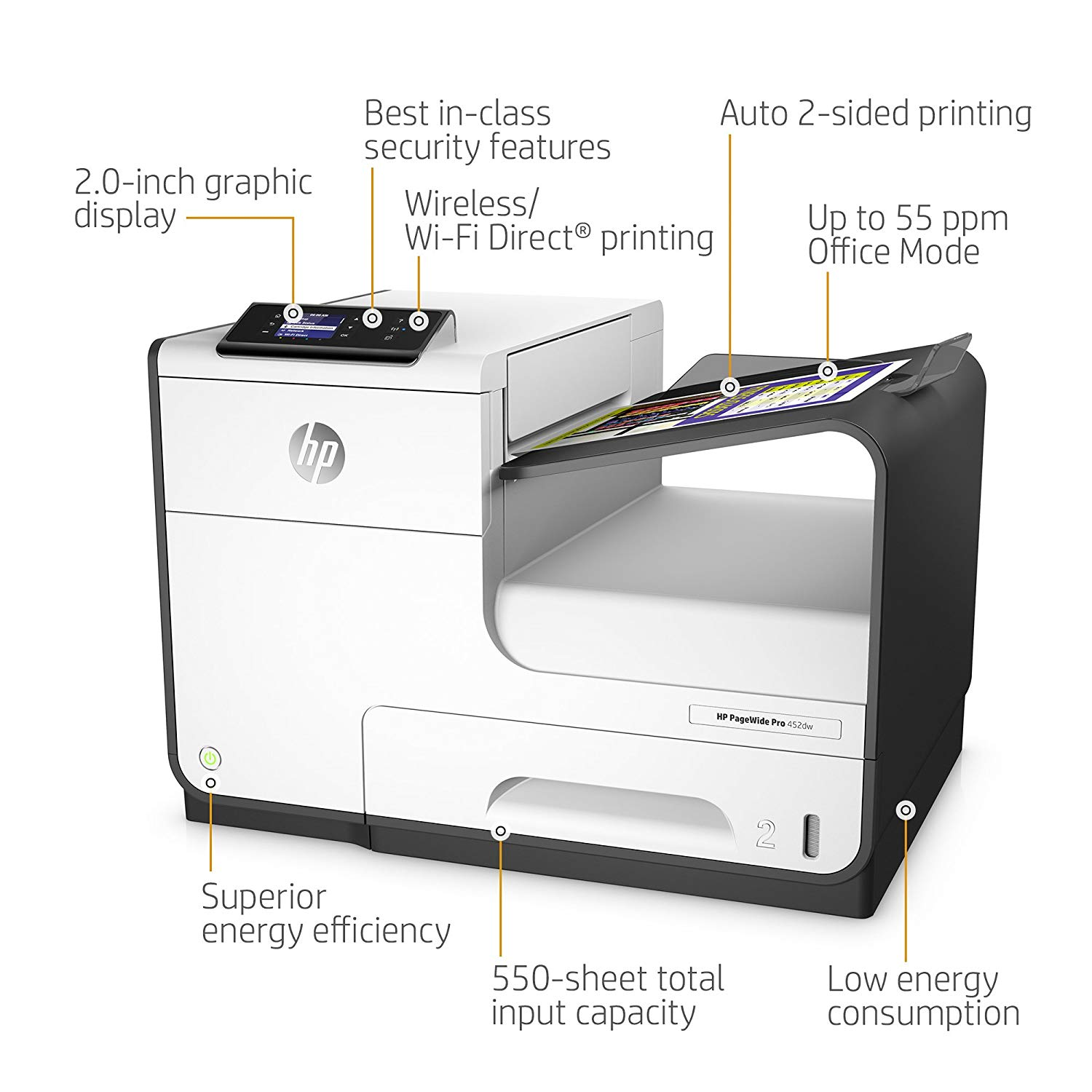 Product | HP PageWide Pro 452dw - printer - color - page wide array