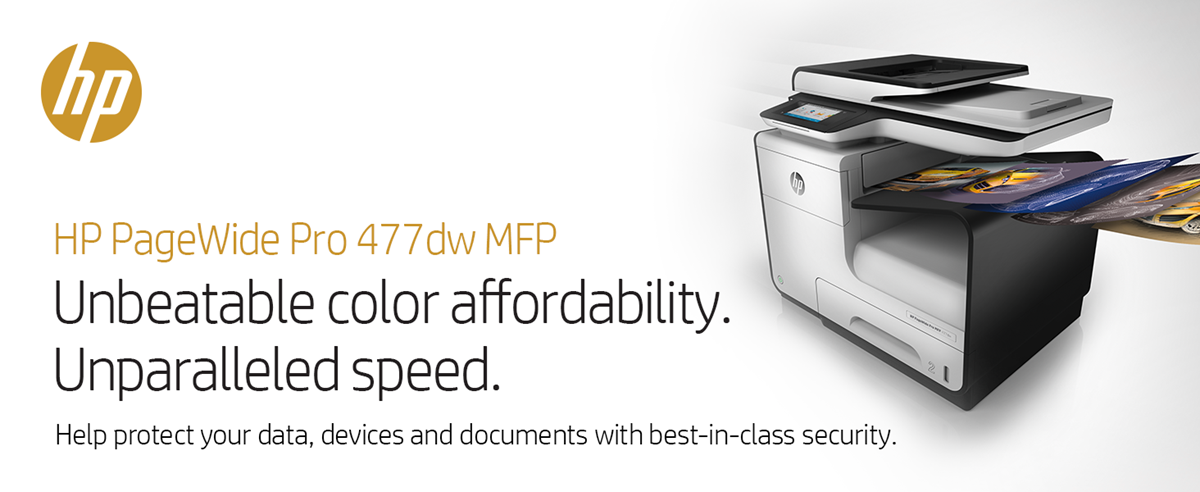 HP PageWide Pro 477dw Wireless Color All-in-One Business Printer with  2-Sided Duplex Printing (D3Q20A) Item # 910268