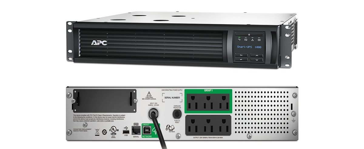 APC Smart-UPS 1000VA LCD RM - UPS - 700 Watt - 1000 VA - with APC  SmartConnect