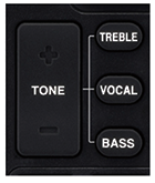 Hear dialog clearly at the touch of a button