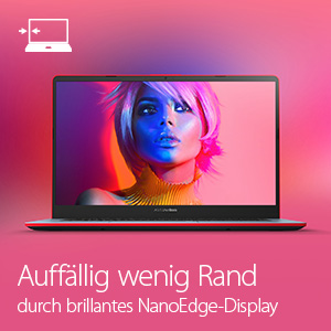 "Nahezu randloses 14"" NanoEdge-Display"