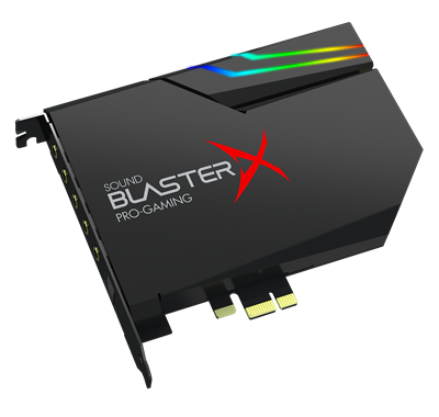 Hi-res PCI-e Gaming Sound Card and DAC with RGB Lighting, Dolby Digital Live, and DTS Encoding