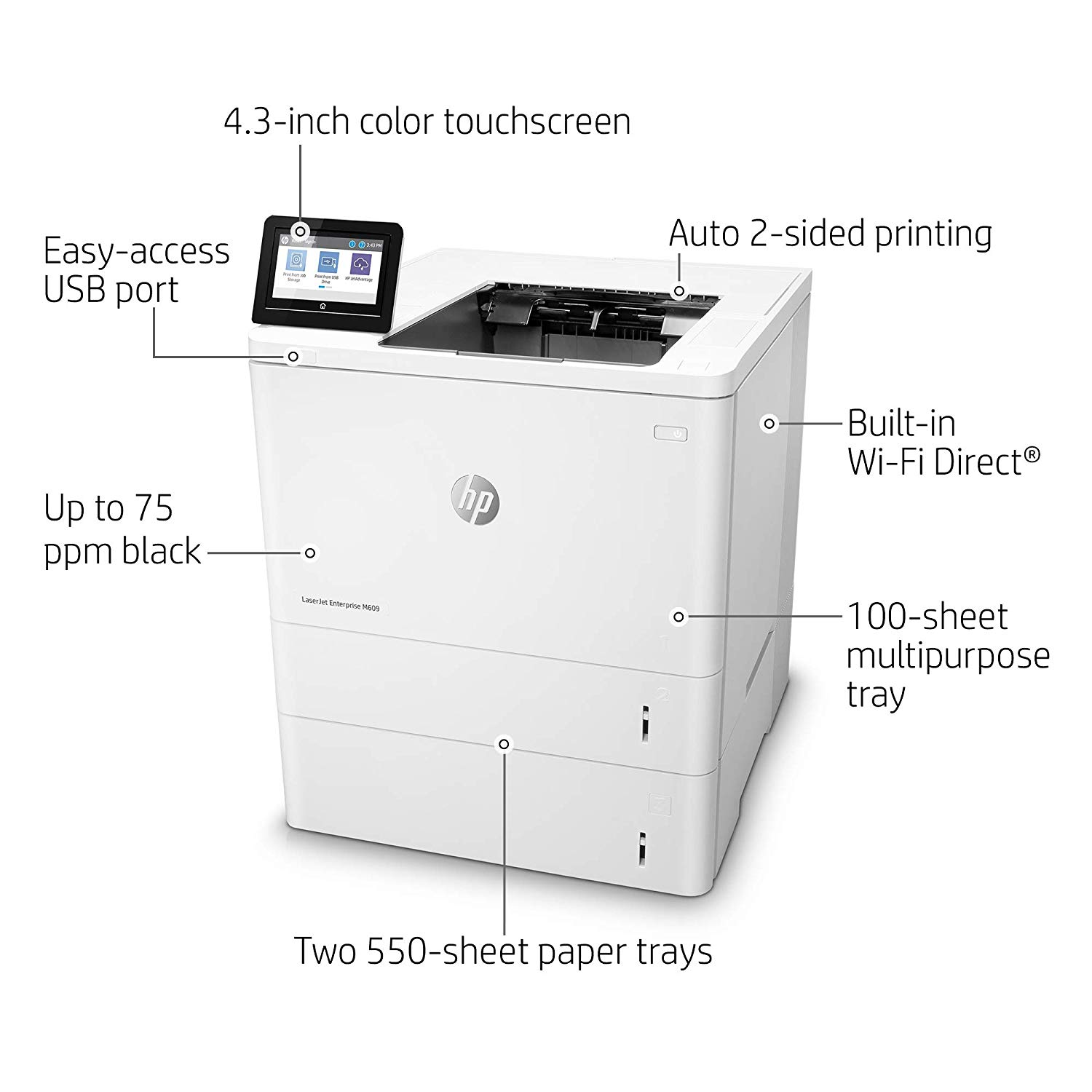 Product | HP LaserJet Enterprise M609x - printer - monochrome - laser