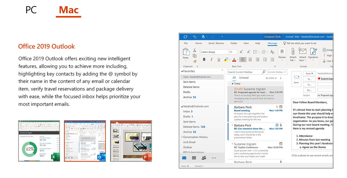Microsoft Office Professional 2019 License 1 PC (Delivery by Email) 269-17074 11