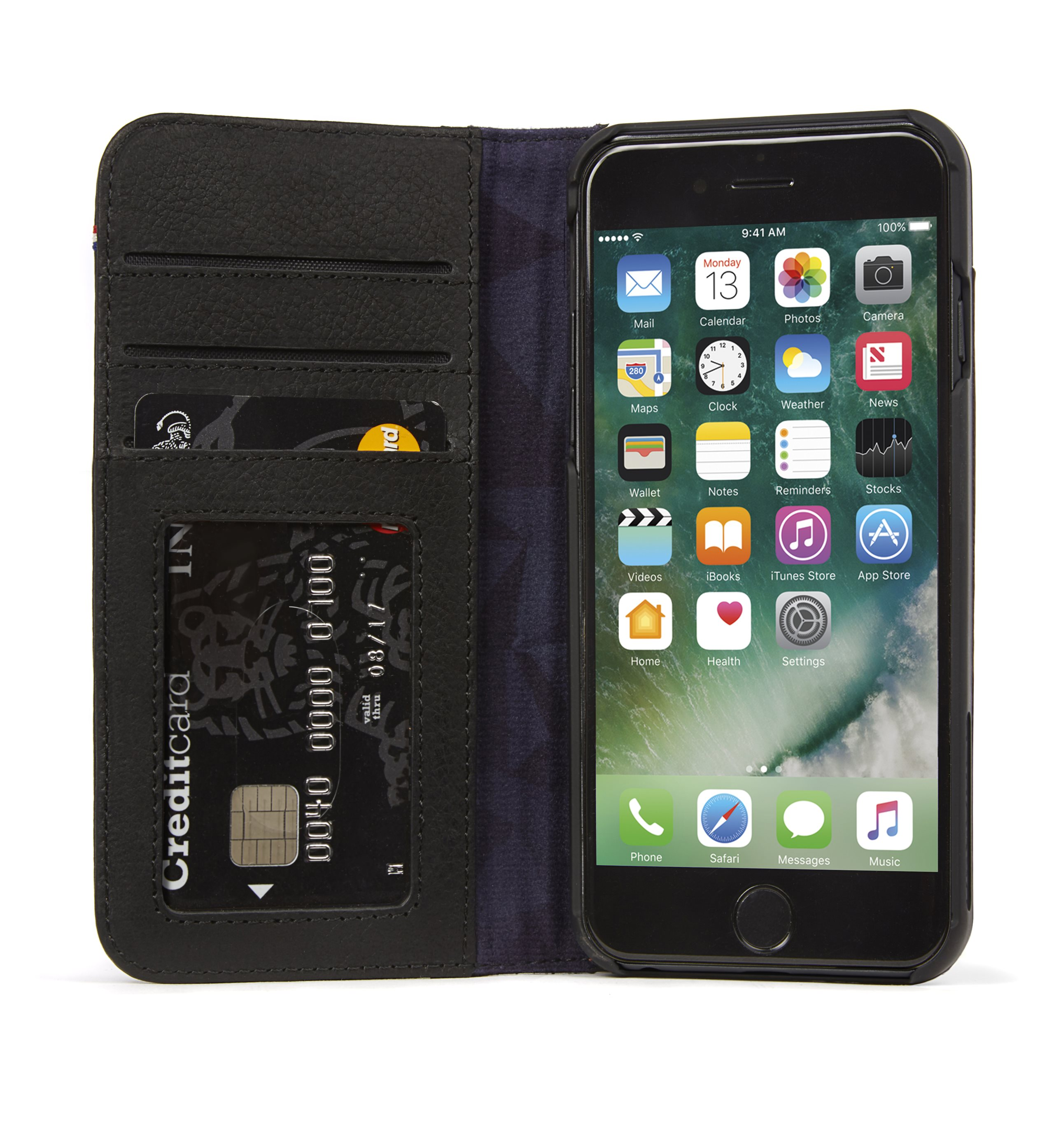 watch 7cbcd bf5bd Decoded Leather Wallet Case for iPhone 6+/7+/8+